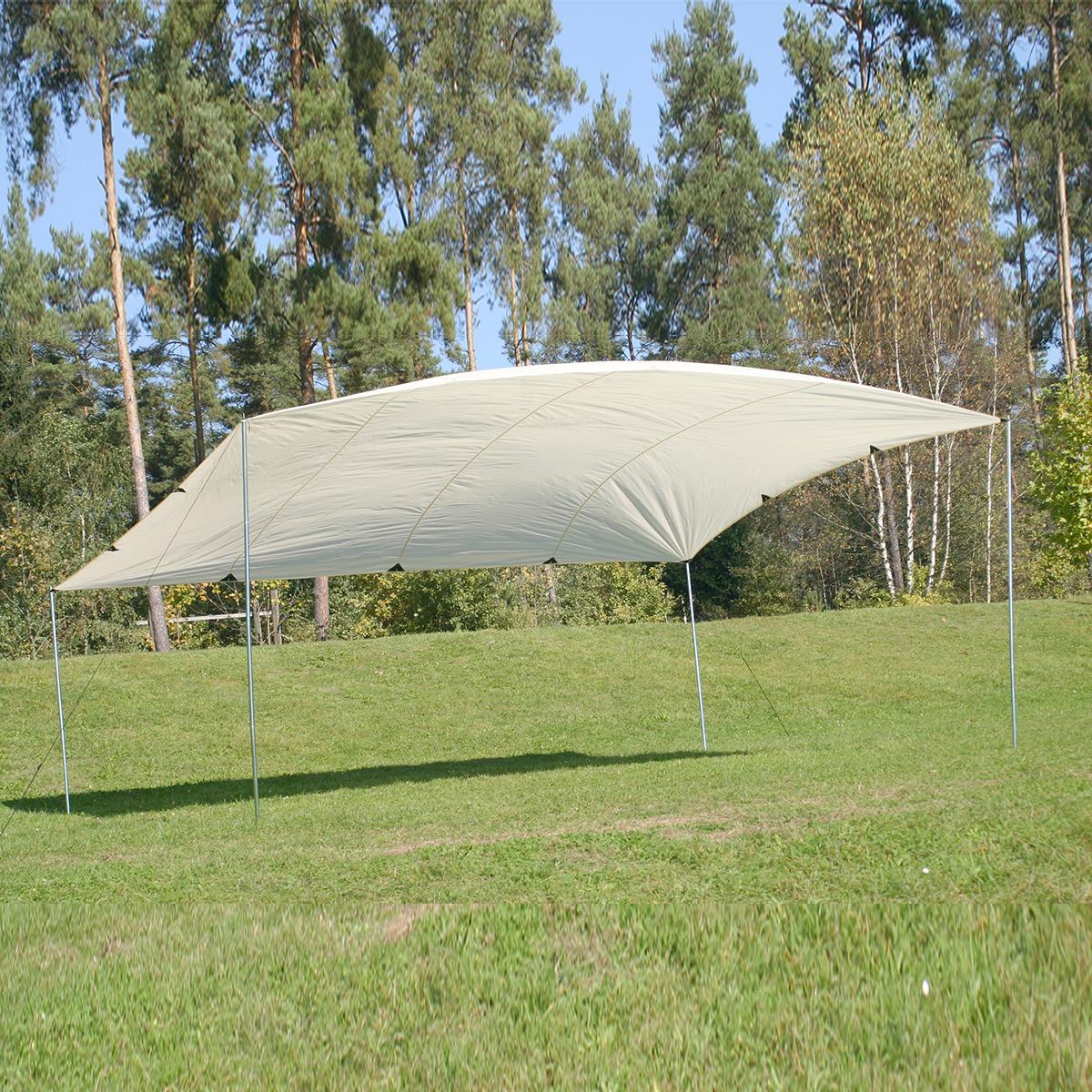montis lake gro es sonnensegel wei ca 4x5m 4 4kg ebay. Black Bedroom Furniture Sets. Home Design Ideas