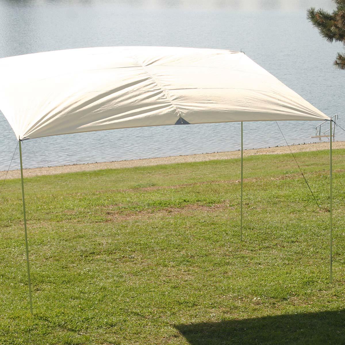 montis spring sonnensegel wei ca 3x2m 3 5kg ebay. Black Bedroom Furniture Sets. Home Design Ideas
